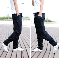 Trousers spring and autumn hot-selling hiphop hip-hop trousers taper pants non-mainstream skateboard pants harem pants tapered