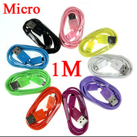 Micro USB 1 meter Charger Cable for Samsung i9300 Galaxy S3 SIII S HTC One X Blackberry NOKIA 500pcs/lot Free Fedex