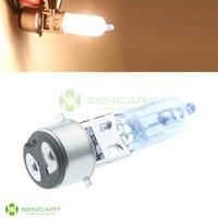BA20D 35W halogen lamp White lights 6500K Fog Head Bulbs For Motorcycle