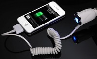 High Quality Brand New 1A Car Charger For iPod iPhone4, 4g 4s,For iphone 3g 3gs ipod touch 4 Free shipping