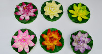 Free Shipping 17cm Artificial water lily lotus flower peoperties viewseaborne plants home decoration 10pcs/lot  wholesale IB0008