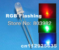RGB blinking led 5MM Round leds automatic flasher Diffused dip diode(Festive Lighting)fast flashing