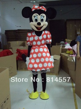 White spots Minnie    Mascot Costume Halloween gift costume characters sex dress hot sale