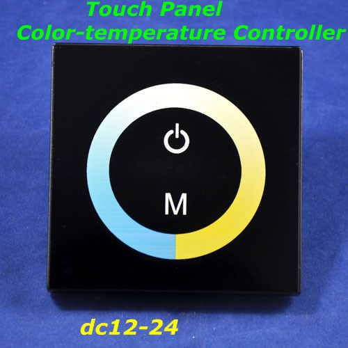 Airmail shipping,New Arrival, DC12-24V LED RF Touch Panel Adjusting Color-temperature Controller for led bulb/strip/rigid light(China (Mainland))