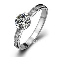 Italina wedding gift eight Hearts  Arrows Swiss crystal 925 sterling silver rings women luxury jewelry Kedol-SL29