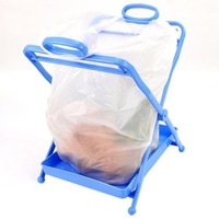 Convenient bucket garbage folding trash rack sundries storage bucket leak-proof chassis blue color