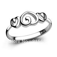 Italina Fashion  925 sterling silver  cute three peach heart tail finger ring female index  birthday gift  Kedol-SL31