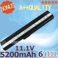 5200mAh  battery for Asus K52 K52J K52JB K52JC K52JE K52JK K52JR K52N K52D K52DE K52DR K52F K62 K62F K62J K62JR N82  K52IJ K52F