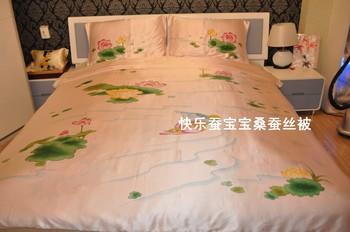 Hangzhou silk pure silk double faced bedding kit mandarin duck piece set