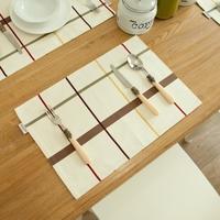 The creative fashion cotton home European placemats Lattice fringe Western pads insulation  bowl/disc /disk Mats & Pads 1pcs/lot