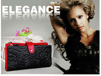 NEW Freeship Real Genuine Leather Lady Girl ID Credit Card Holder Purse Wallet