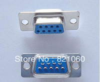 10PCS DB9 hole female Welded Connector RS232 serial port RS232