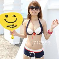 Steel wire bikini piece set women's swimwear hot spring swimwear yongyi