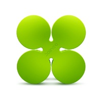 Lucky four leaf clover earphones cable winder line fashion line cable winder