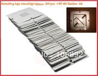 Free shipping  full 241pcs/lot  reballing bga stencil kit BGA StencilsTemplates Set rework stencil 80mm X 80mm+HT-80 Station
