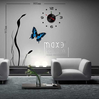 Diy clock home clock max3 muons wall stickers clock 10a069