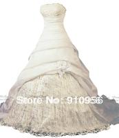 In-Stock High Quality Elegant White Ivory Strapless White Ivory Ball Gown Designer Wedding Dress Bridal Dresses Gowns 2014