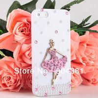Handmade Bling Ballet Dancer Diamond Hard Back Case Cover For apple iPhone 5 5TH 5GEN