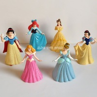 Princess Stories Cake Topper Figures Toys Lot of 6pcs Snow white Cinderella Belle Ariel RARE