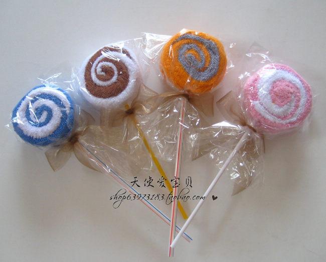 Lollipop baby compressed towel cartoon towel 100% cotton towel(China (Mainland))