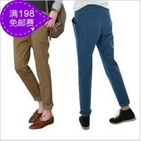 Plus size clothing 2013 mm summer new arrival preppy style all-match harem pants plus size casual trousers
