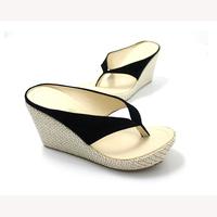 Fashion sbohemia wedges platform platform flip flops sandals and flip,black sandals size 34-41