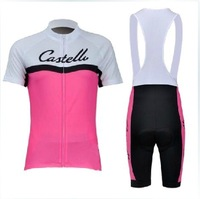 new women Castelli cycling wear clothes bicycle/bike/riding  clothing  Cycling Wear Cycling Jersey +bibs Shorts suit kits