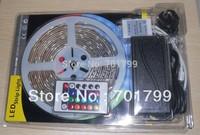 5m/roll 150leds DC12V IP65 SMD5050 strip lights+24keys rgb IR remote controller+powe adaptor