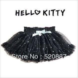 free shipping!HELLO KITTY Children skirts girls tutu black