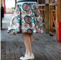Women Sunflower bohemia floral print short skirt lady fashion skirt