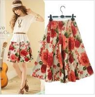 Free ship,lady/women bohemia floral print short skirt plus size skirts15#