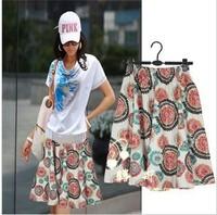 Free ship,lady/women bohemia floral print short skirt plus size skirts 12#