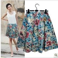 Free ship,lady/women bohemia floral print short skirt plus size skirts11#