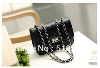 2013 small sachet plaid chain bag fashion black mini women's handbag messenger bag small bags