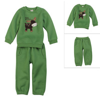 2014 New Cotton Autumn and winter Child Clothing set long-sleeve baby sweatshirt Trousers sports set Free shipping High quality