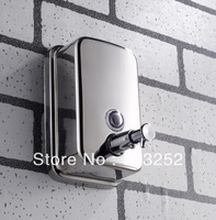 free shipping Wall mounted Stailess steel kitchen sink bar liquid soap dispenser resist rust bottles  PJ40