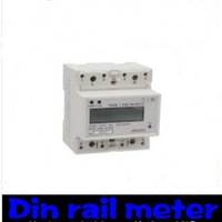 Single Phase Din Rail Energy Meter   free shipping! by FEDEX or UPS or DHL