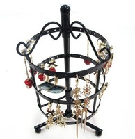 free shipping 72 Holes Metal Earrings Jewelry Display Hanging Stand Holder Show Rack Hanger