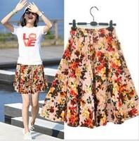 Free ship,lady/women cotton a-line skirt bohemia print short skirts