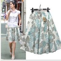 Free ship,lady/women bohemia print women's bust skirt beach plus size short skirt
