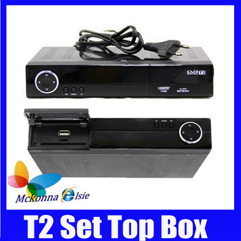 2Pcs/lot Hot! HD Support HDMI DVB-T2 MPEG-2 MPEG-4 H.264 Digital Terrestrial Receiver /Set Top Box/TV Receiver DVB T2 Tuner