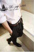 2013 European and American style of England Small fashion pleated slim western-style trousers k15 p50