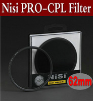 free shipping 62mm NISI ultrathin PRO 1D(W)Circular Polarizing CPL Camera Lens Filter