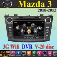 "8"" Car DVD Player autoradio GPS New Mazda3 Mazda 3  2010 2011 2012  +3G WIFI + V-20 Disc + 1GB cpu+ DDR 512M RAM + A8 Chipset"
