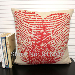 Fingerprint of heart designer pillow case, 45x45cm square, Free shipping!(China (Mainland))