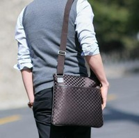 2013 HOT Shoulder Bags/Messenger Bag Men grid Business bag retail free shipping