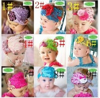 Free Shipping 10pcs/lot Baby fashion hair band  baby girl feather headband colorful girl head accessories multi styles