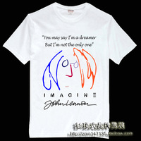 Free Shipping Shirt classic beatles t-shirt the beatles john lennon short-sleeve john lennon men's clothing