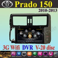 "7"" Car DVD Player autoradio GPS Toyota Prado 150  2010- 2013  +3G WIFI + V-20 Disc + 1GB cpu+ DDR 512M RAM + A8 Chipset"
