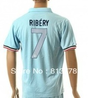 new  13 - 14France 7# RIBERY  T-SHIRT soccer jersey blue  2013-2014  season   jerseys cheap  hot sell good